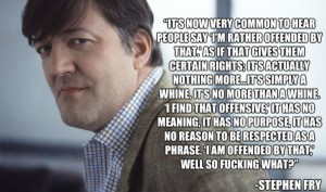 Stephen Fry on Offensive