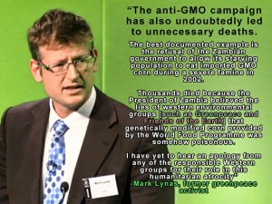 Lynas, Mark on GMO