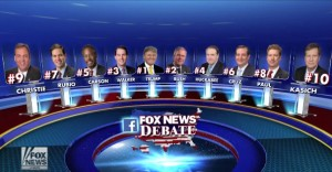 Top Ten GOP 1st Debate 2015