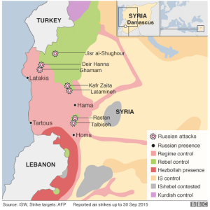 Syria Air Strikes to 30 Sep 2015
