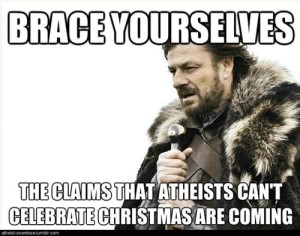 Atheists can't celebrate Christmas