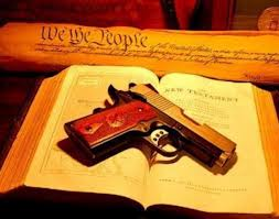 Bible and gun