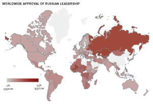 Worldwide Russia Approval Rates