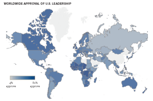 Worldwide US President Approval Rates