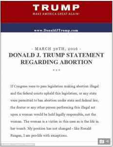 Trump on abortion