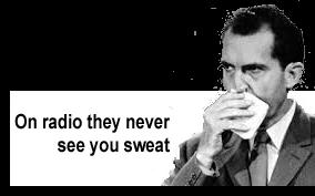 Nixon, Richard sweat