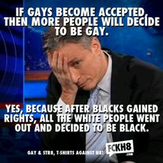 Jon Stewart on acceptance of gays