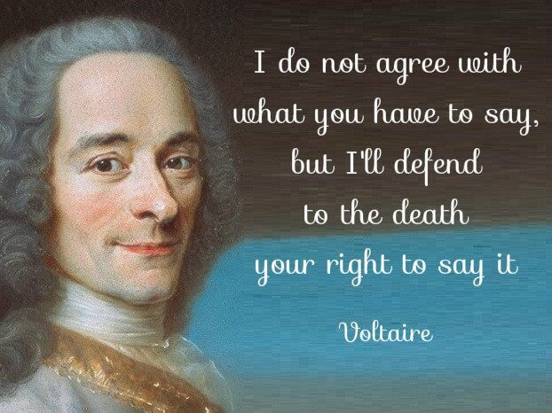 Voltaire freedom of speech