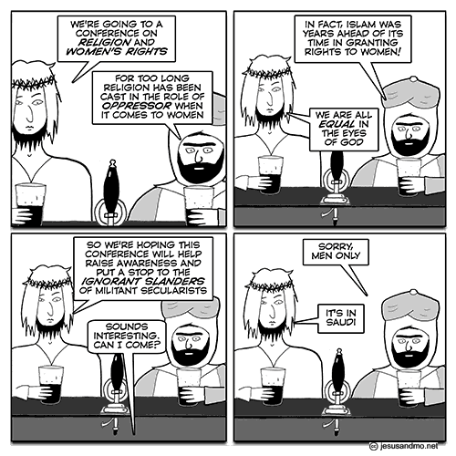 Jesus and Mo: Saudi Arabia Conference