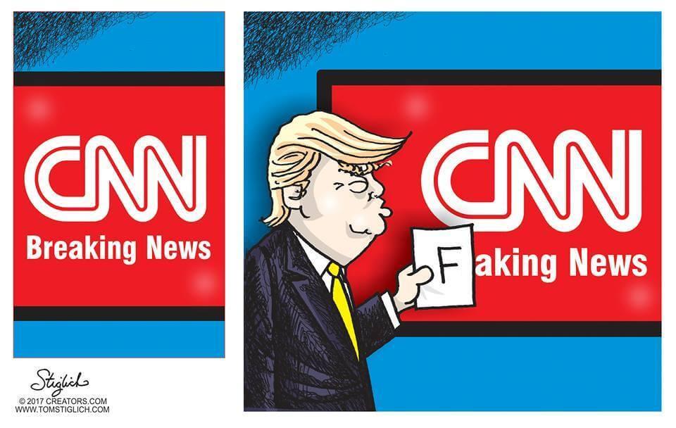 CNN Trump Fake News cartoon.