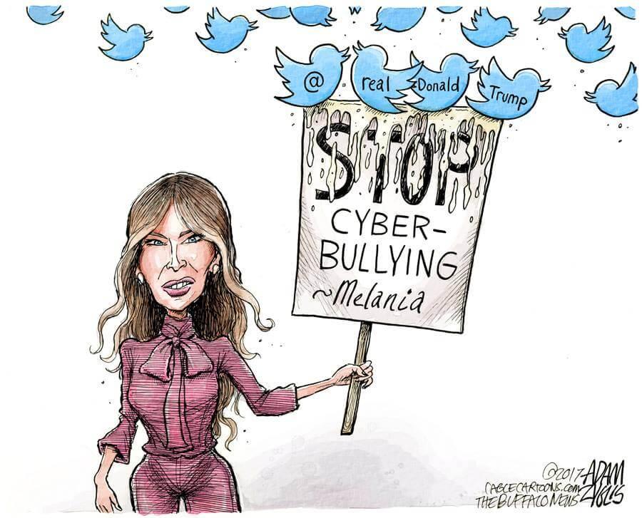 Melania Trump Stop Cyber-Bullying cartoon