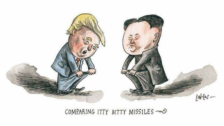Trump vs Kim Jong-un cartoon