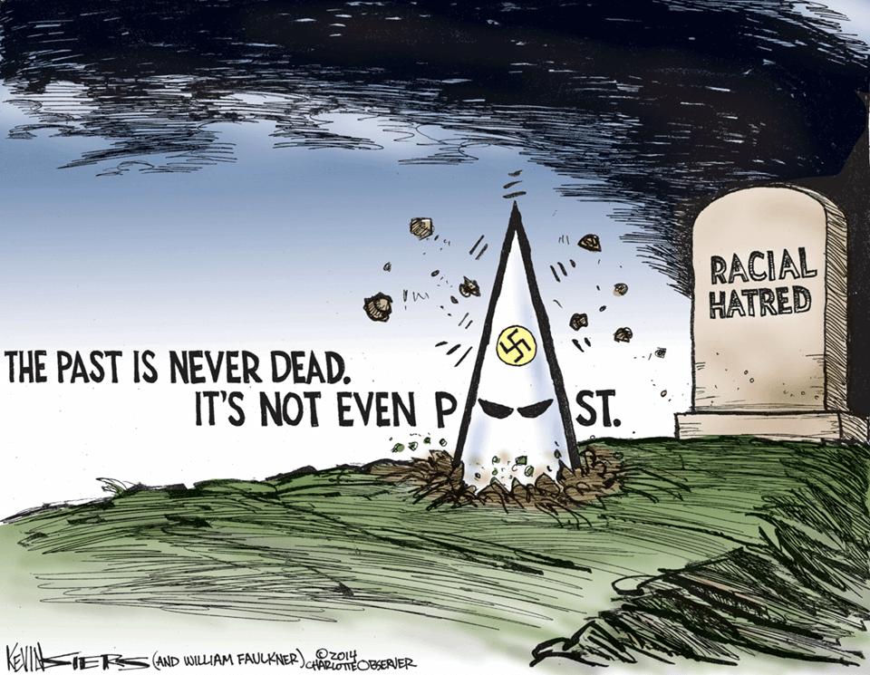 Racism KKK cartoon
