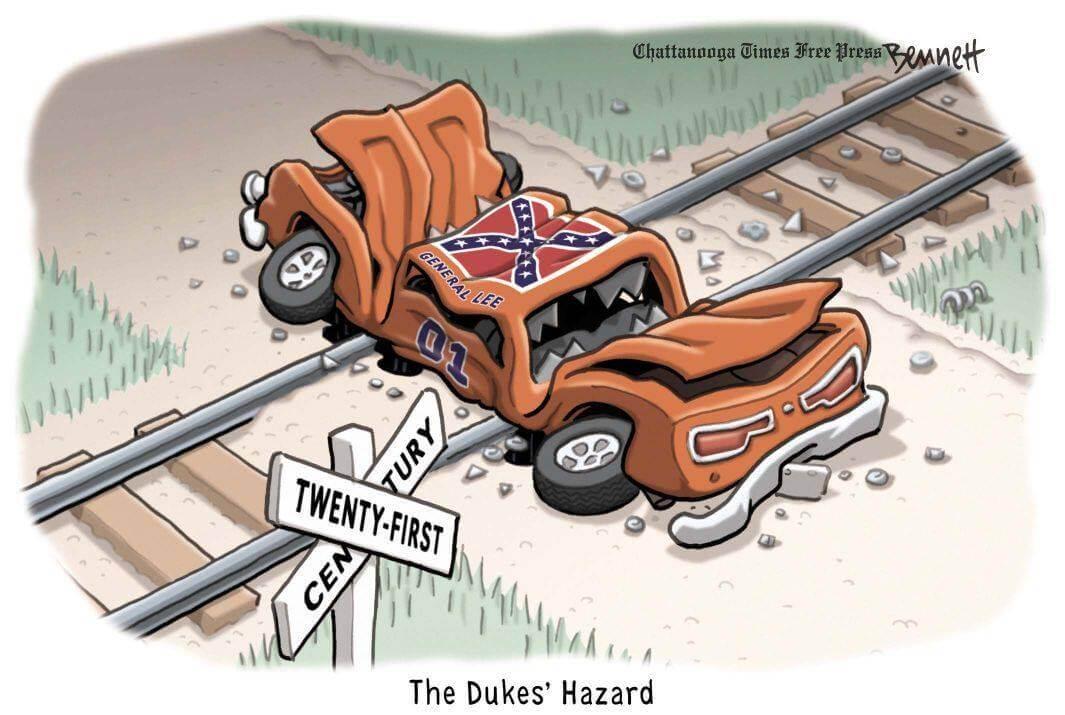 Death of confederacy cartoon.