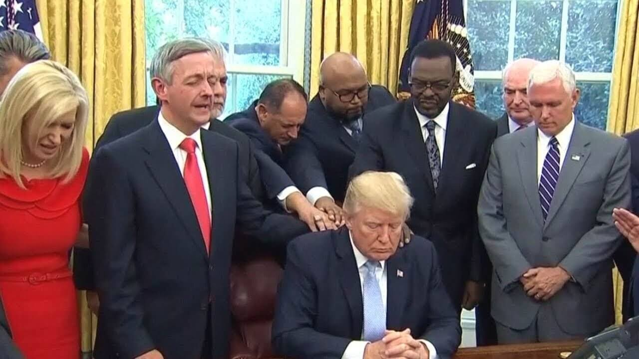 Prayer by Evangelicals in the Oval Office preceding the signing of the order declaring the Sunday after Hurricane Harvey as a Day of Prayer.