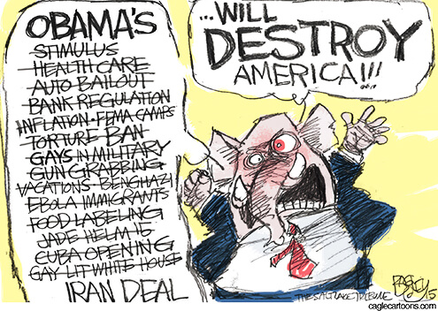 Cartoon: GOP says Obama will destroy US