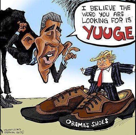 Cartoon: Trump has big shoes to fill