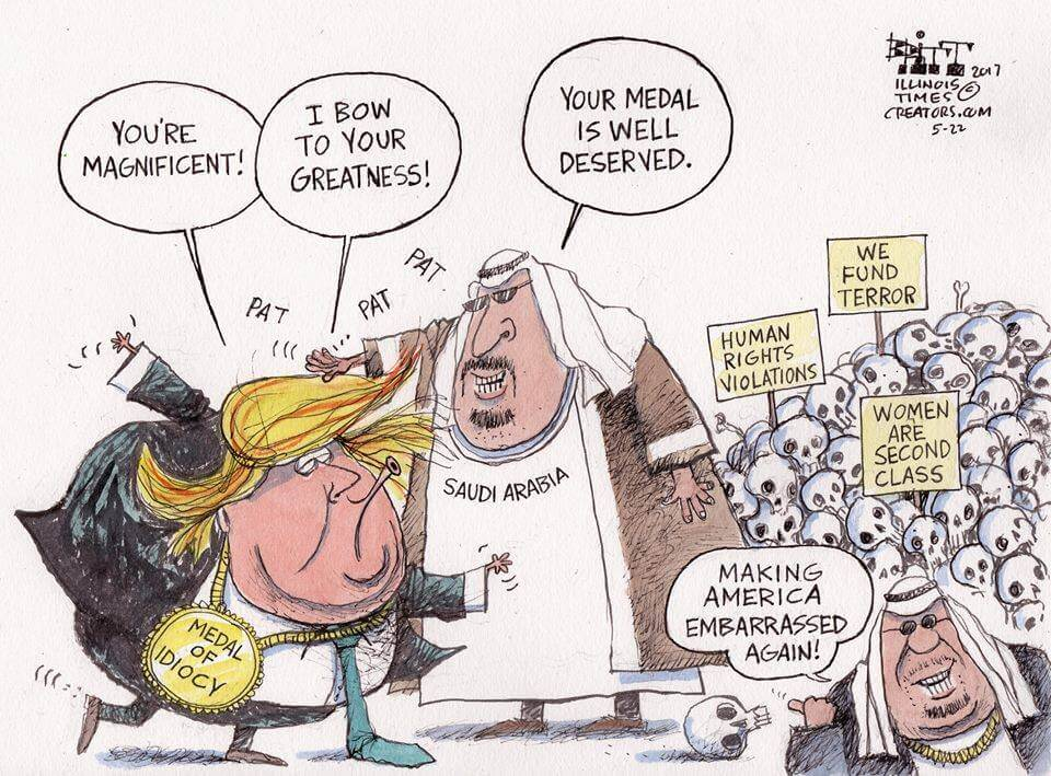 Cartoon: Trump visit to Saudi Arabia 2017