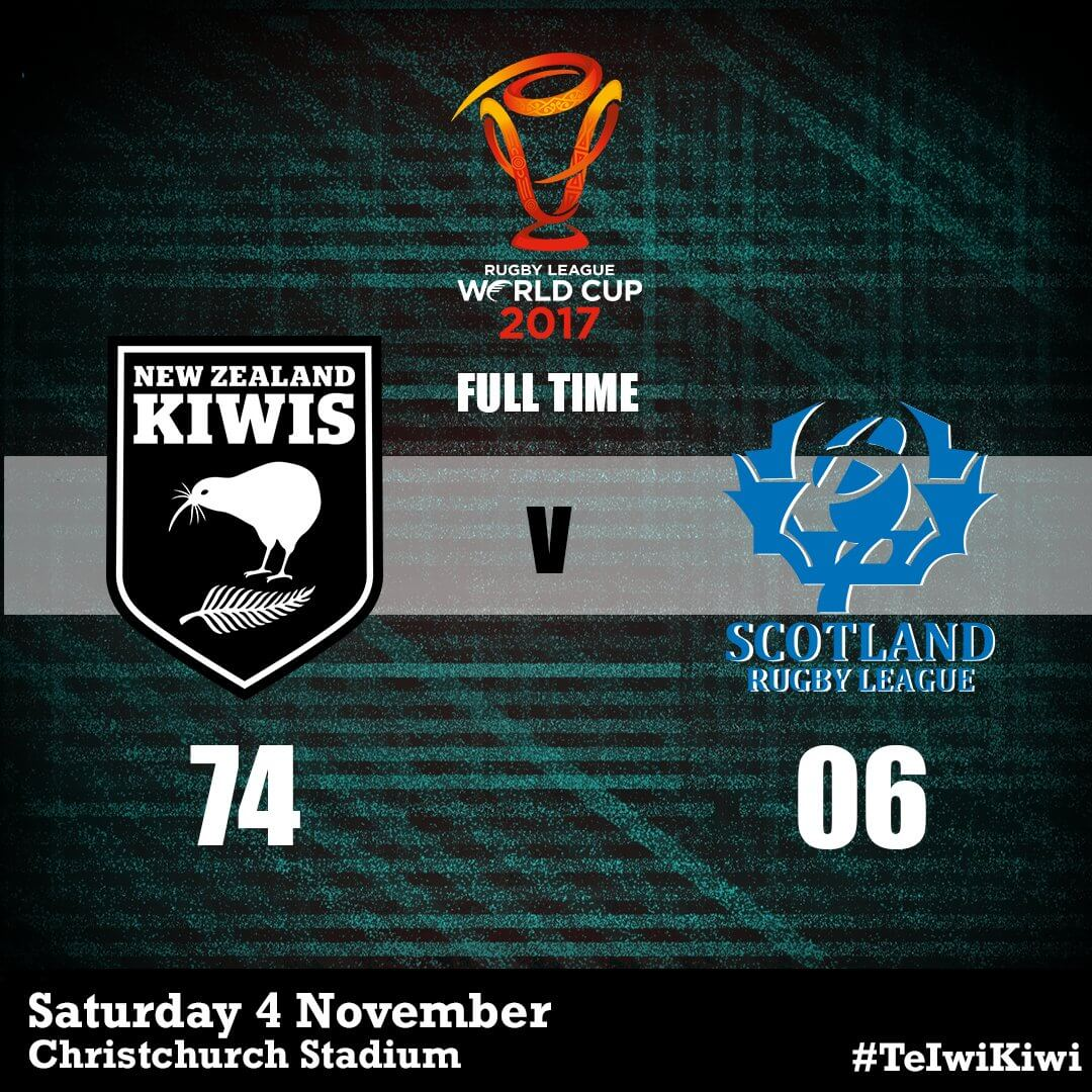 Kiwis vs Scotland score