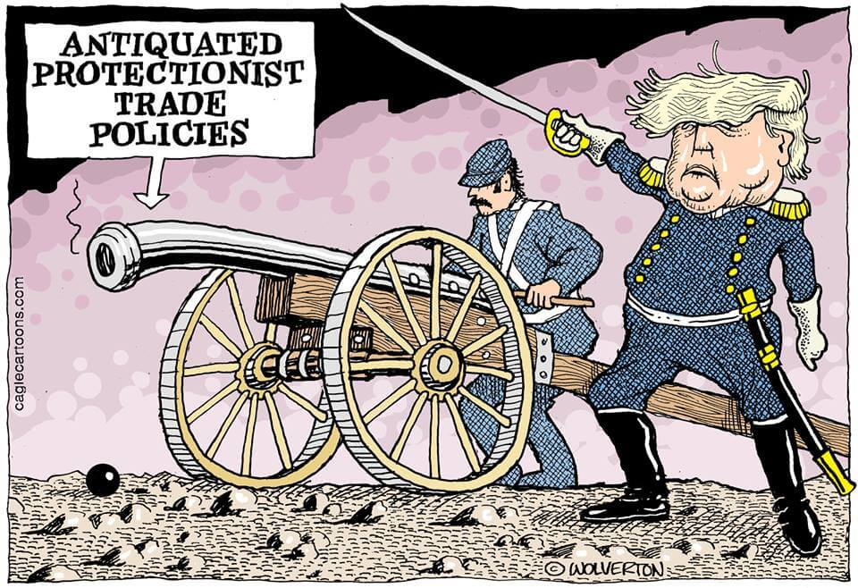 Trump Trade War cartoon