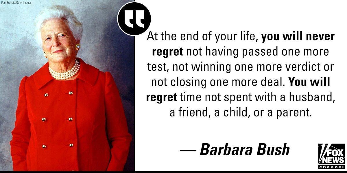 Barbara Bush quote.