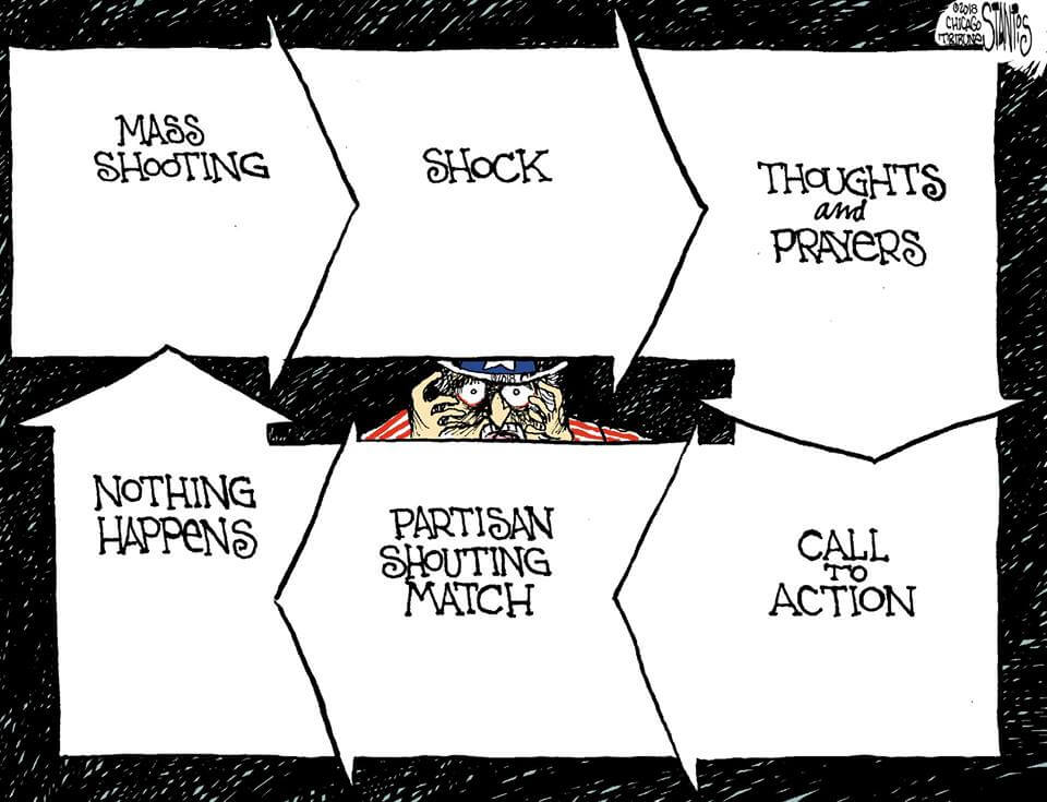 Mass Shooting Cycle cartoon