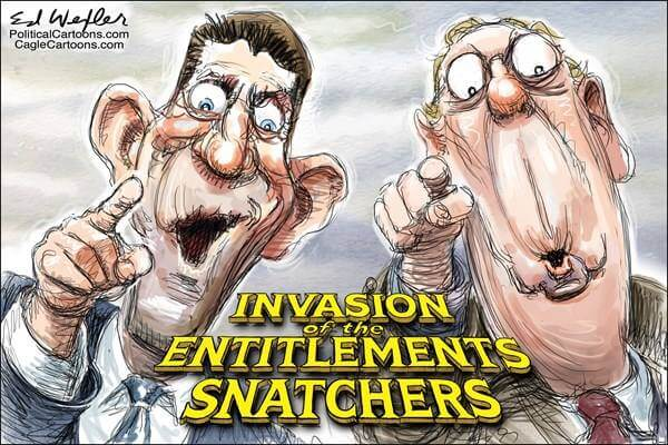 Cartoon: Invasion of the Entitlement snatchers